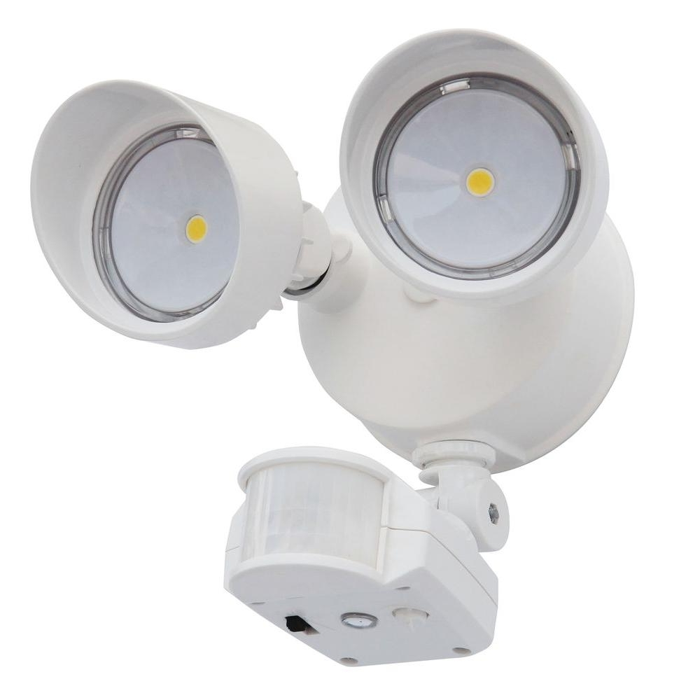Most Current Hanging Outdoor Flood Lights With Regard To Lithonia Lighting 180° White Motion Sensing Led Outdoor Security (View 18 of 20)