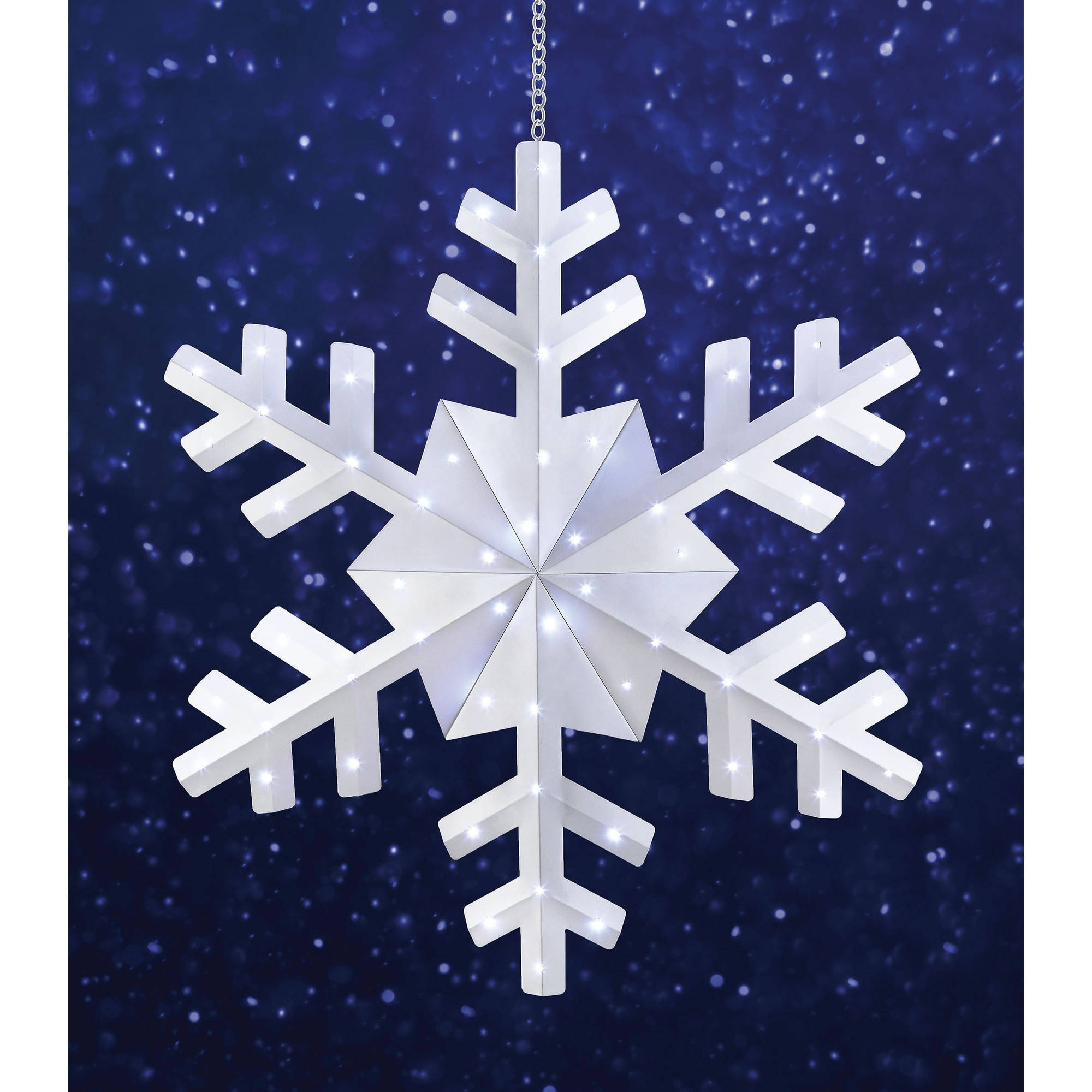 "Most Current Holiday Time 36"" Snowflake Christmas Outdoor Hanging Light, Cool Within Outdoor Hanging Snowflake Lights (View 13 of 20)"