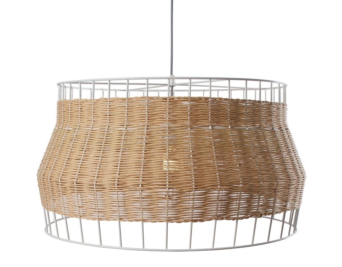 Most Current Laika Large Pendant Light – Hivemodern Pertaining To Outdoor Rattan Hanging Lights (View 14 of 20)