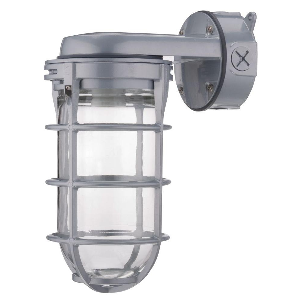 Most Current Lithonia Lighting Outdoor Gray High Pressure Sodium Wall Mount With Regard To Outdoor Ceiling Mounted Security Lights (View 11 of 20)