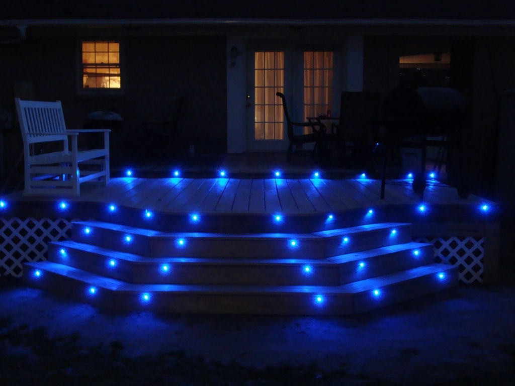 Most Current Modern Garden Low Voltage Deck Lighting With Regard To Blue Led Deck Lights (View 13 of 20)