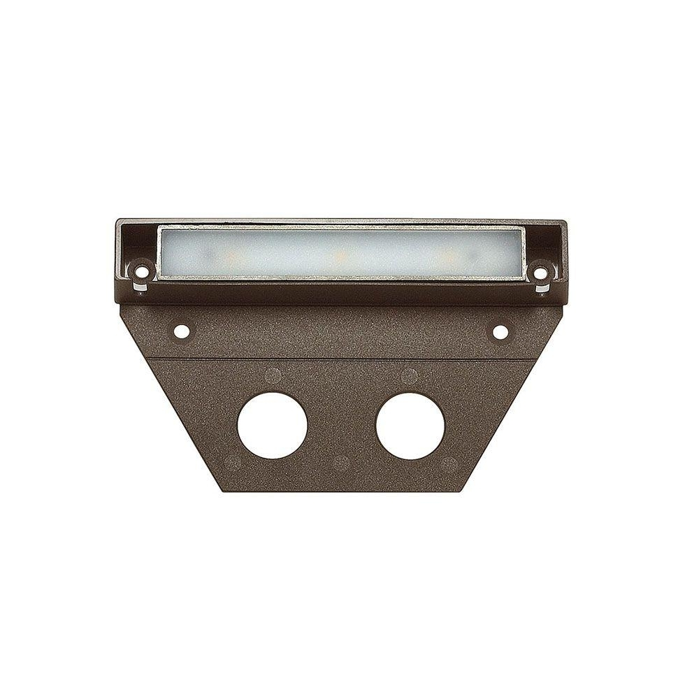 Most Current Modern Low Voltage Deck Lighting At Home Depot For Hinkley Lighting Ultra Warm Bronze Integrated Led Hardscape Light (View 7 of 20)