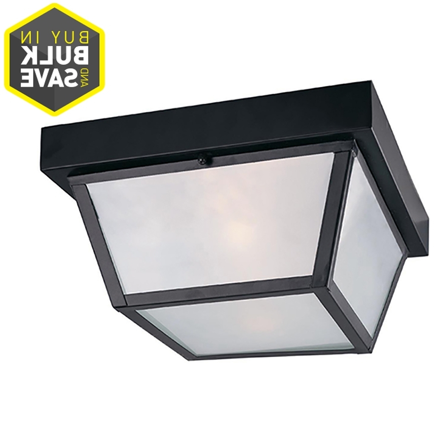 Most Current Outdoor Ceiling Flush Mount Lights Regarding Shop Outdoor Flush Mount Lights At Lowes (View 9 of 20)