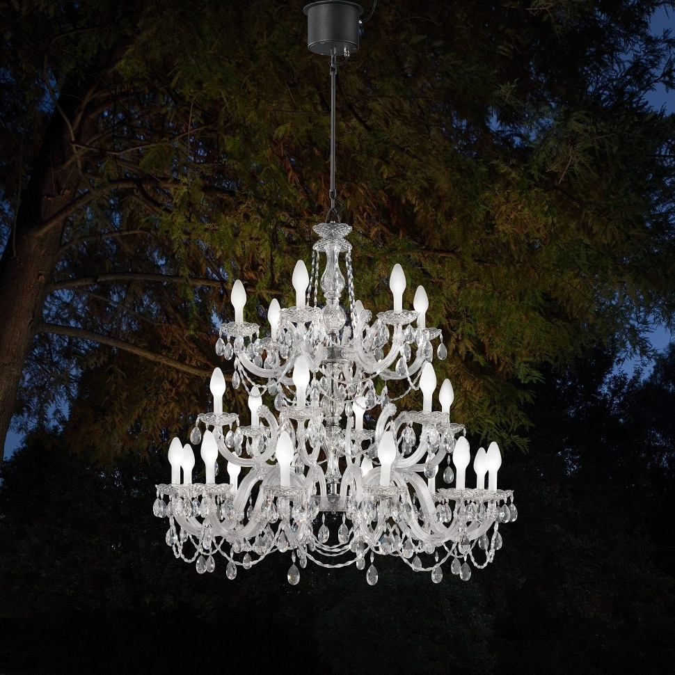 Most Current Outdoor Hanging Lights Masters With Regard To Chandeliers : Cotemporary Design Portable Outdoor Chandelier Photos (View 18 of 20)