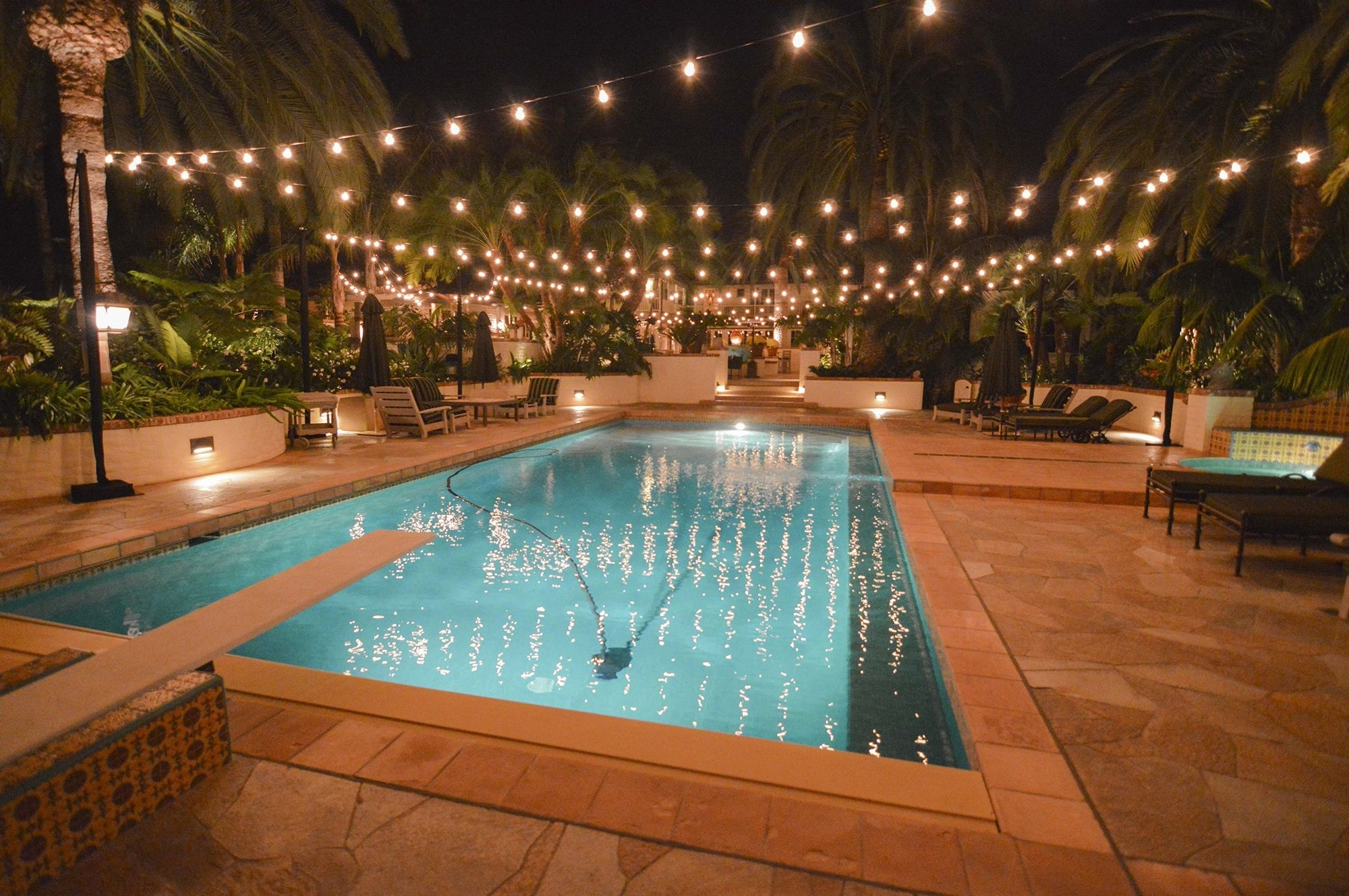 Most Current Outdoor Hanging Pool Lights Pertaining To Your Business With Bistro Lighting (View 6 of 20)