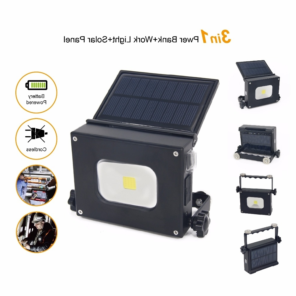 Most Current Outdoor Hanging Work Lights Inside 2Pcs/lot 10W Solar Led Pocket Light Portable Camping Lantern Outdoor (View 12 of 20)