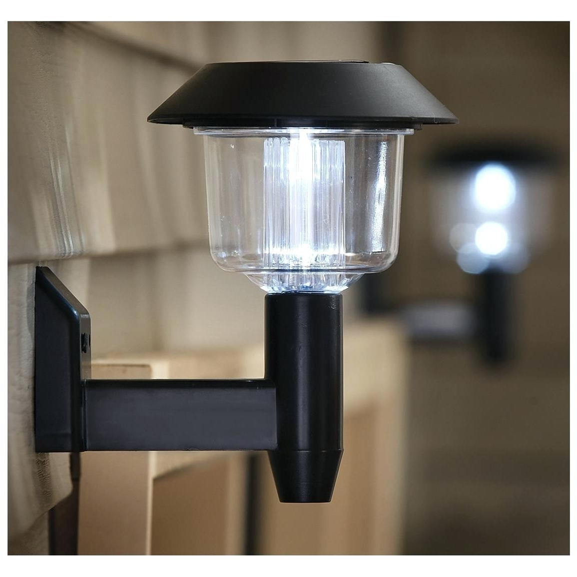 Most Current Outdoor Solar Wall Lights Intended For Light : Solar Wall Mount Light Set Of Garden Outdoor Sconce Lantern (View 5 of 20)