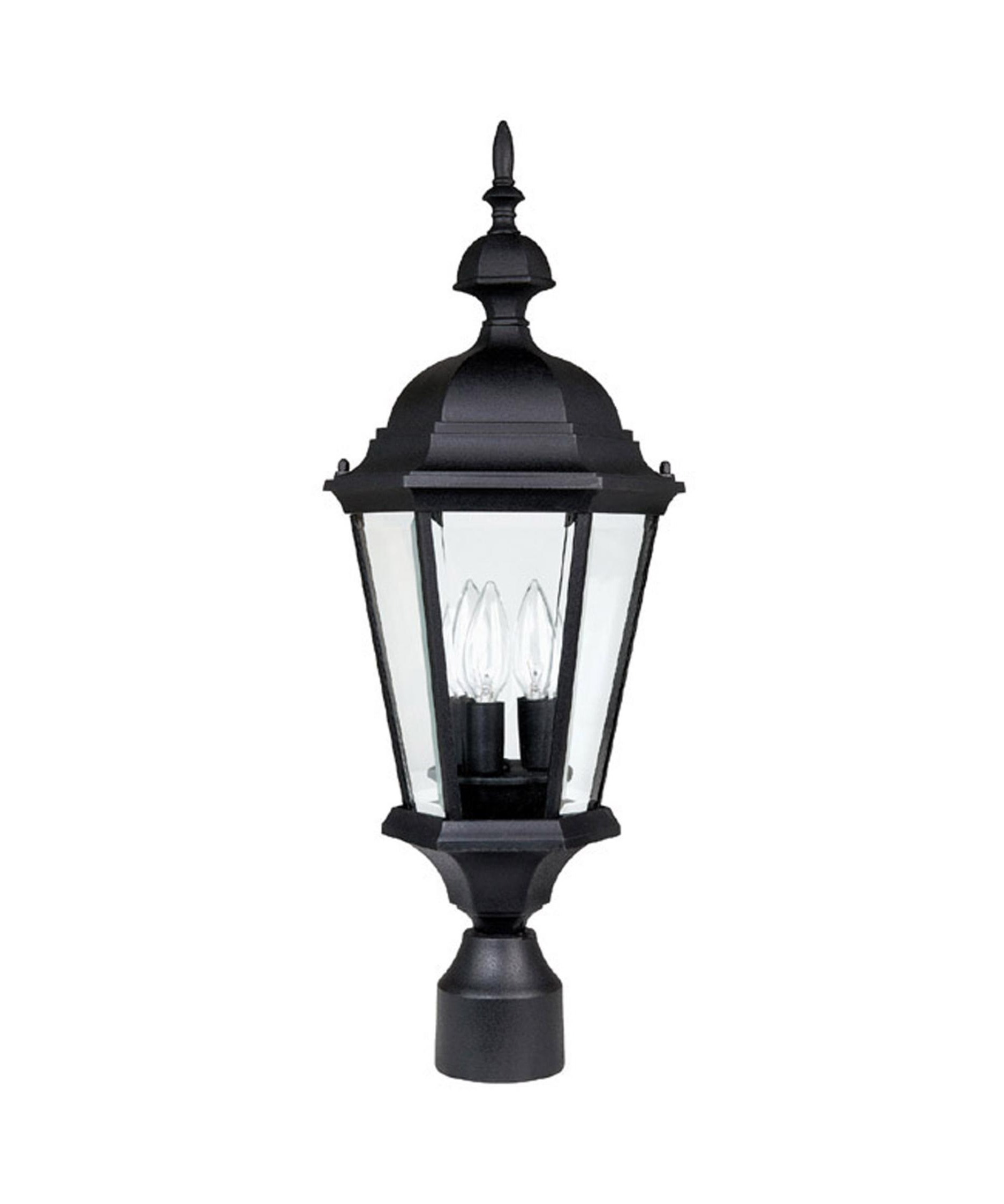 Most Current Outdoor Wall And Post Lighting Intended For Capital Lighting 9725 Carriage House 10 Inch Wide 3 Light Outdoor (View 7 of 20)