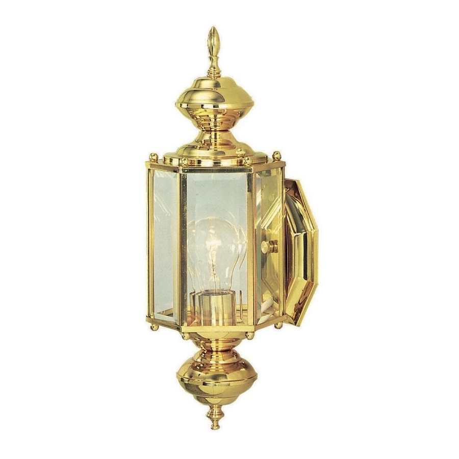 Most Current Polished Brass Outdoor Wall Lights Intended For Shop Design House Augusta  (View 6 of 20)