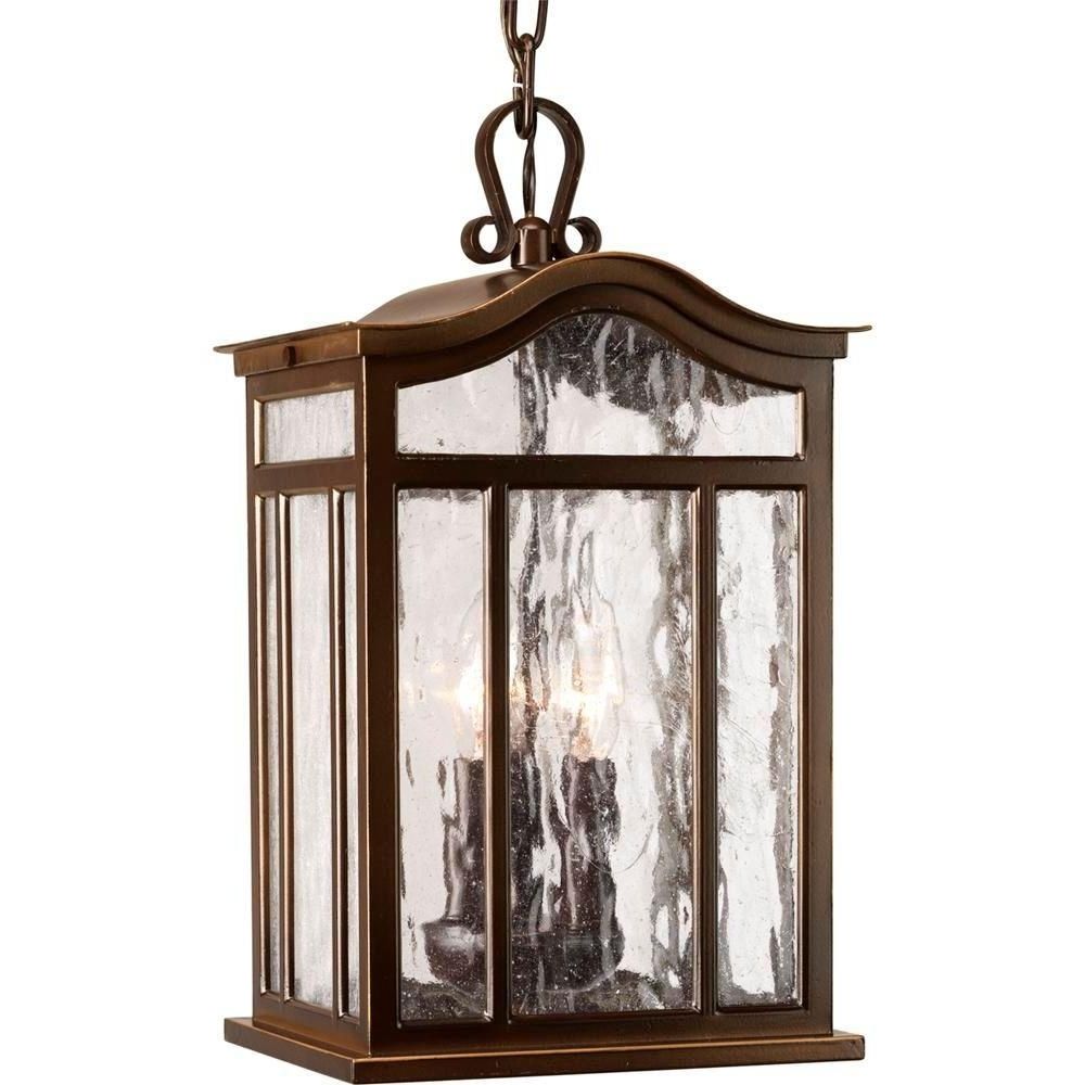 Most Current Progress Lighting Meadowlark Collection 3 Light Outdoor Oil Rubbed With Outdoor Hanging Lanterns From Canada (View 9 of 20)