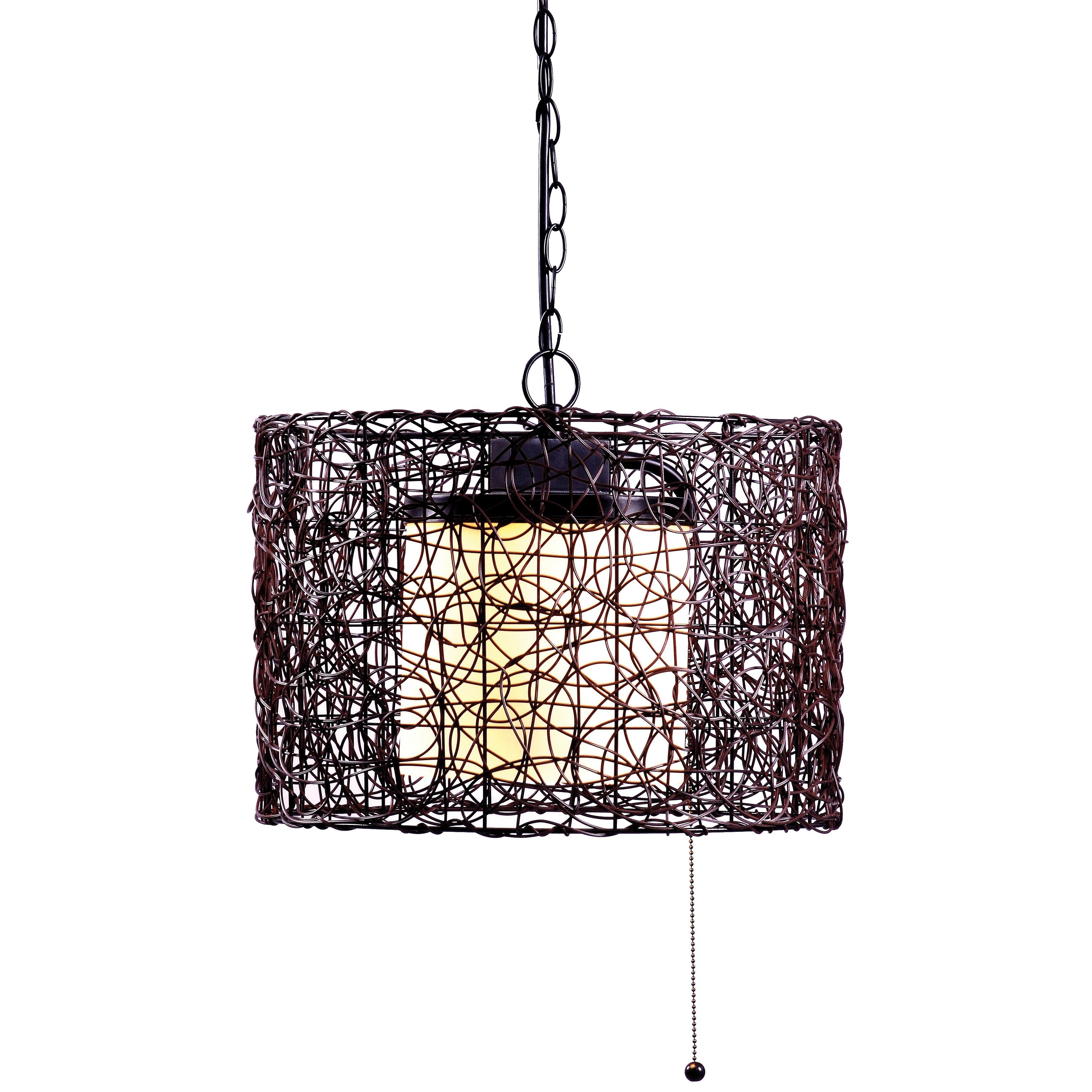 Most Current Rustic Outdoor Lighting At Wayfair Throughout Rustic Outdoor Hanging Lights Wayfair Rosalind 47 Light Pendant (View 6 of 20)