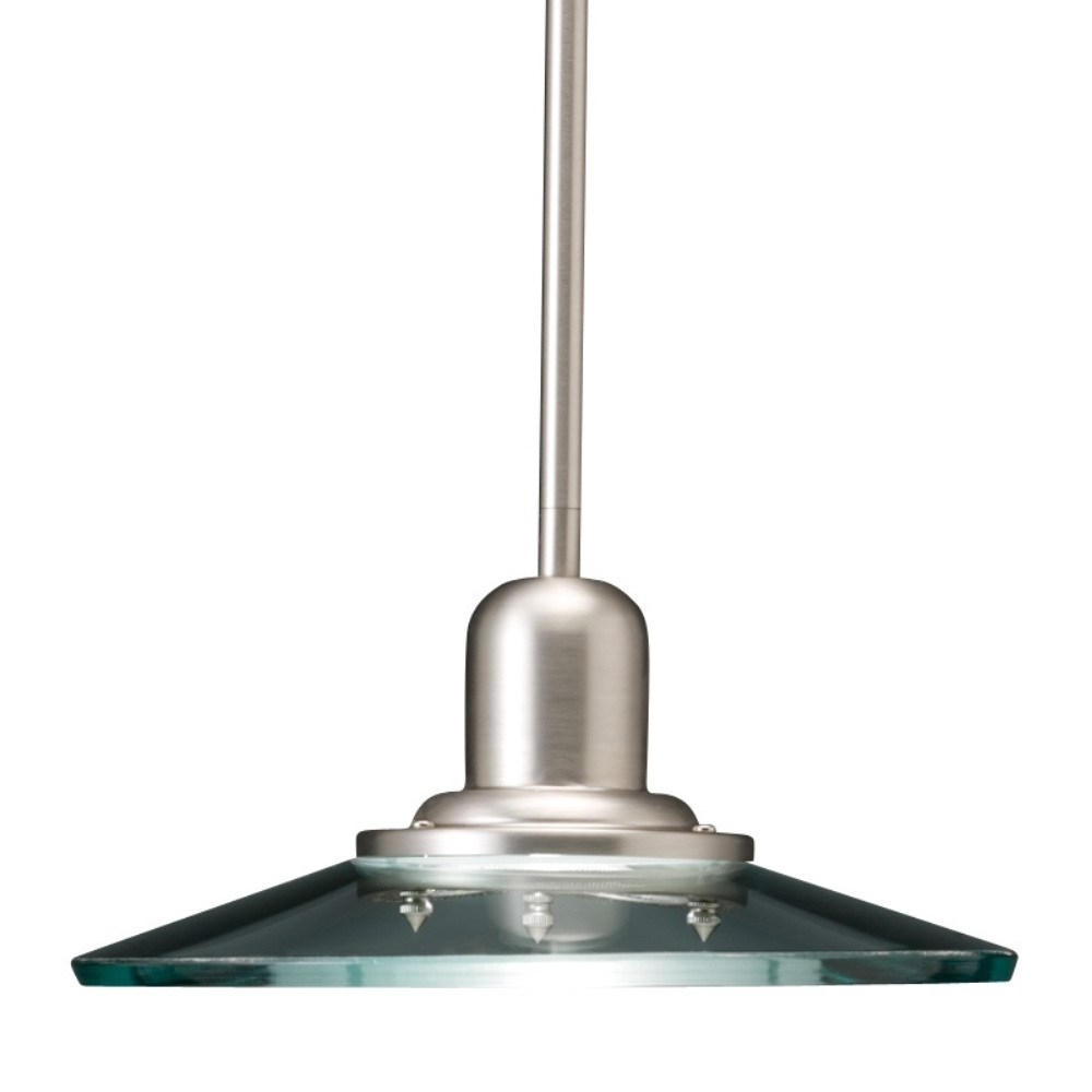 Most Current Shop Allen + Roth Galileo 10 In Brushed Nickel Industrial Mini Clear Pertaining To Outdoor Ceiling Lights At Lowes (View 8 of 20)