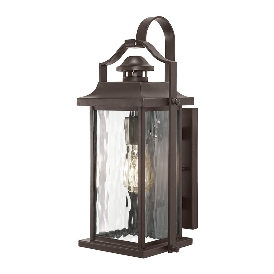 Most Current Shop Kichler Lighting Linford 15 In H Olde Bronze Outdoor Wall Light With Kichler Lighting Outdoor Wall Lanterns (View 12 of 20)