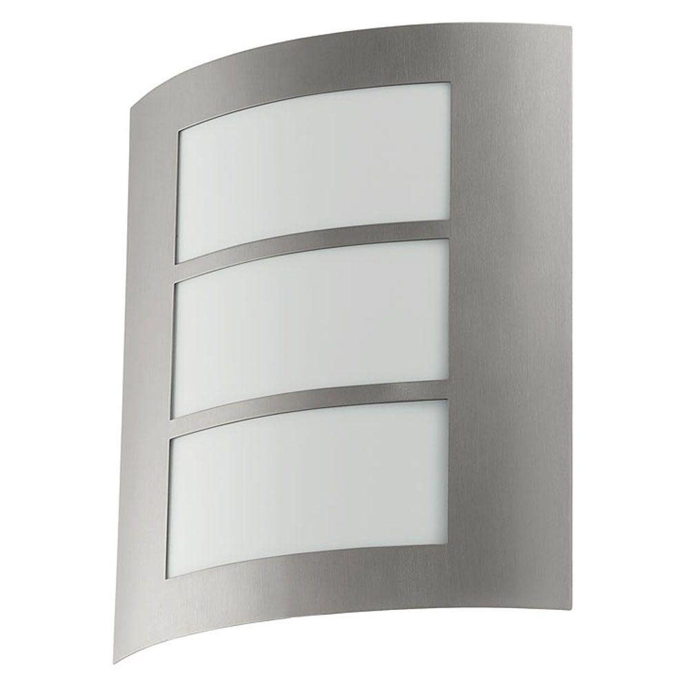 Most Current Stainless Steel Outdoor Wall Lights With Regard To Eglo City 1 Light Stainless Steel Outdoor Wall Light 88139A – The (View 12 of 20)