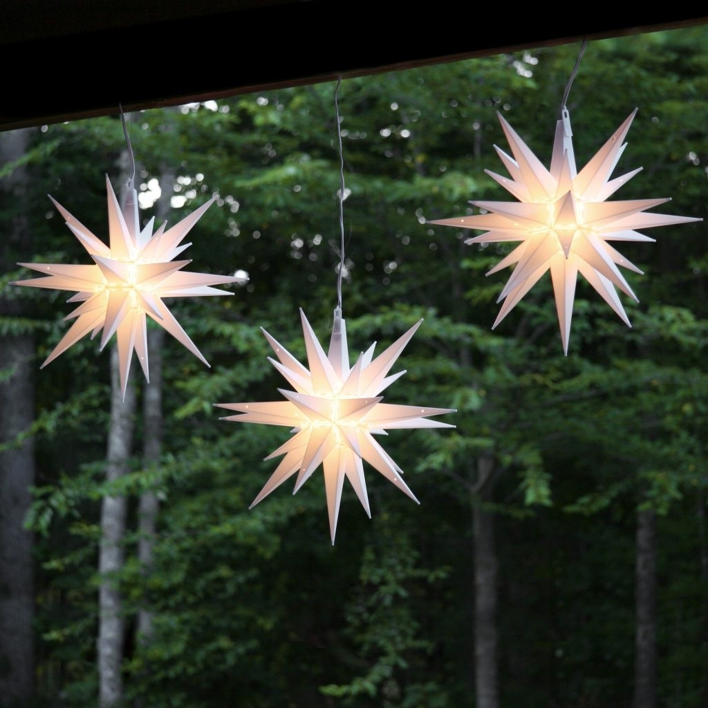 Most Current Sweet Ideas Hanging Star Christmas Lights Outdoor Outside Chritsmas In Outdoor Hanging Star Lights (View 2 of 20)