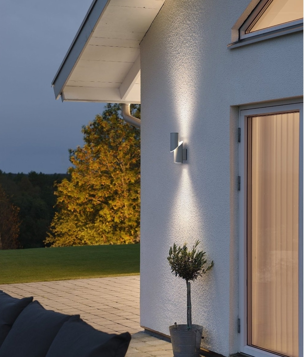 Most Current Up And Down Outdoor Wall Lighting Inside Kitchen : High Powered Led Exterior Down Wall Light Beleuchtung Big (View 16 of 20)