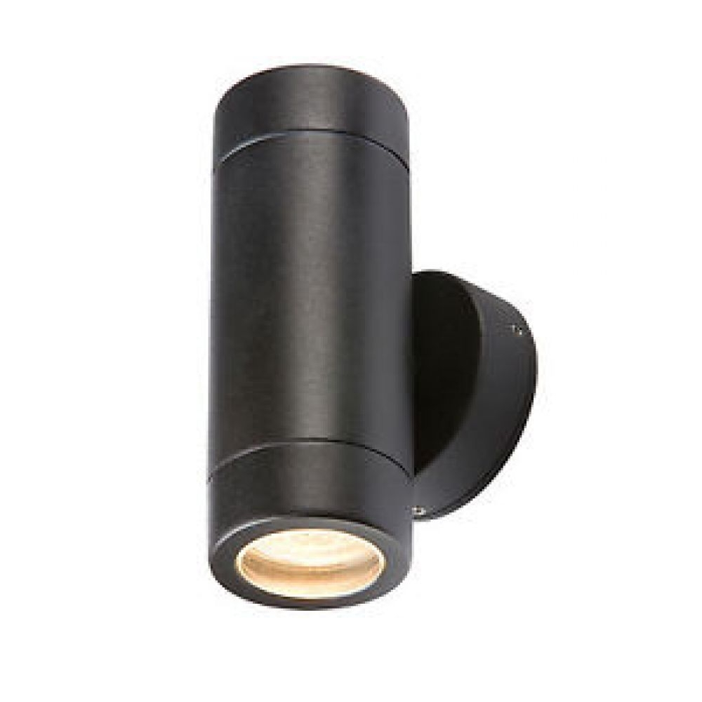 Most Current Up Down Outdoor Wall Lighting Regarding Black Up/down Twin Outdoor Wall Light (View 11 of 20)