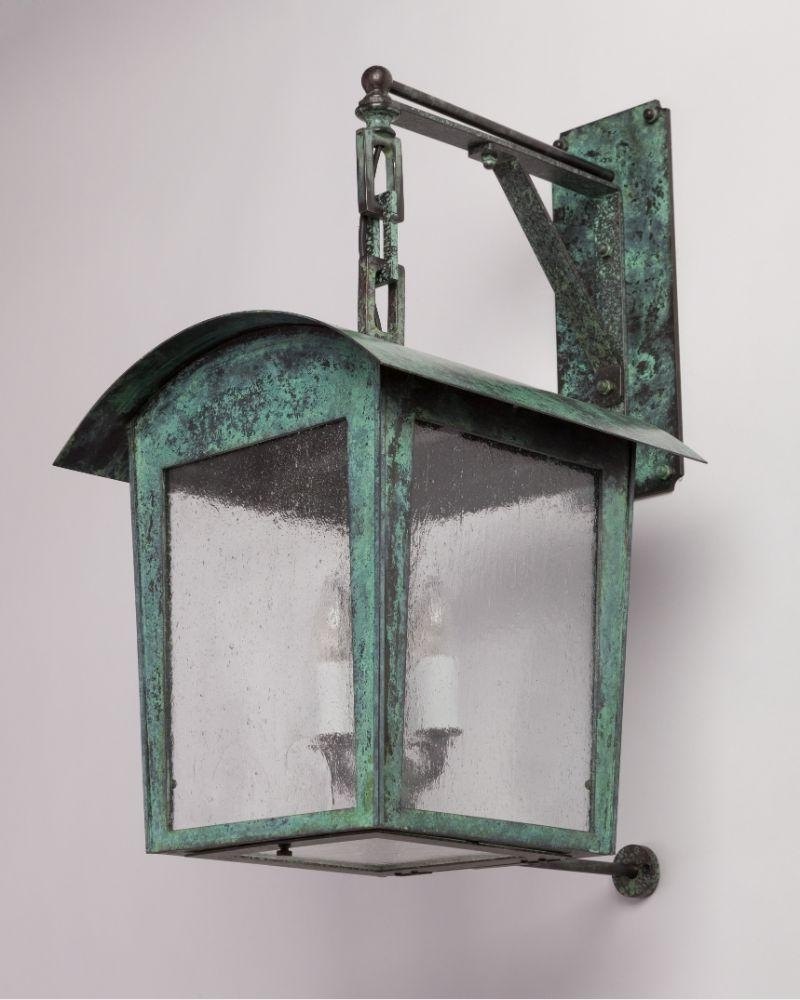 Most Current Verdigris Outdoor Wall Lighting Regarding Paul 13 Exterior Wall Lantern In Remains New Verdigris Finish (View 8 of 20)