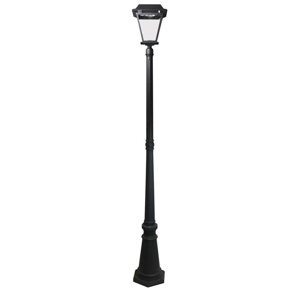 Most Current Xepa Stay On Whole Night 300 Lumens Black Outdoor Solar Led Post With Regard To Outdoor Led Post Lights Fixtures (View 19 of 20)