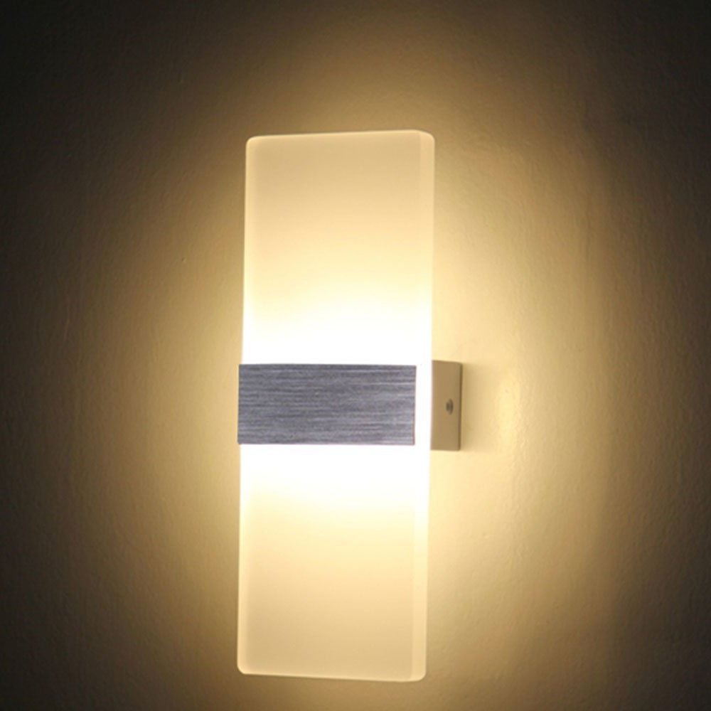 Most Popular China Outdoor Wall Lighting In Tanbaby 6W 12W Led Wall Lamps Acrylic Wall Sconce For Bedroom Living (View 17 of 20)