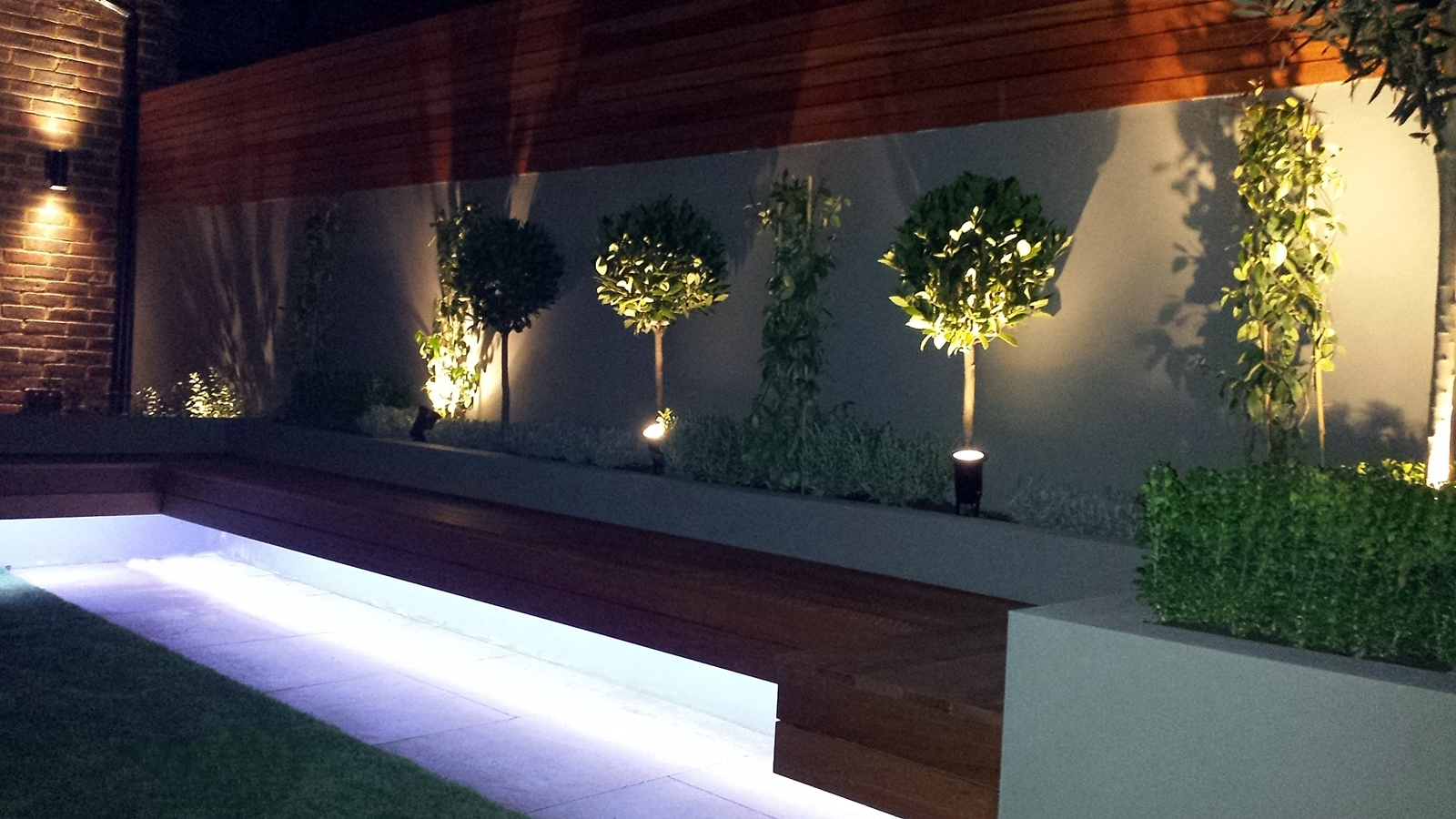 Most Popular Contemporary Led Post Lights For Mini Garden Throughout Modern Small Garden Design Clapham Battersea Balham London – London (View 9 of 20)