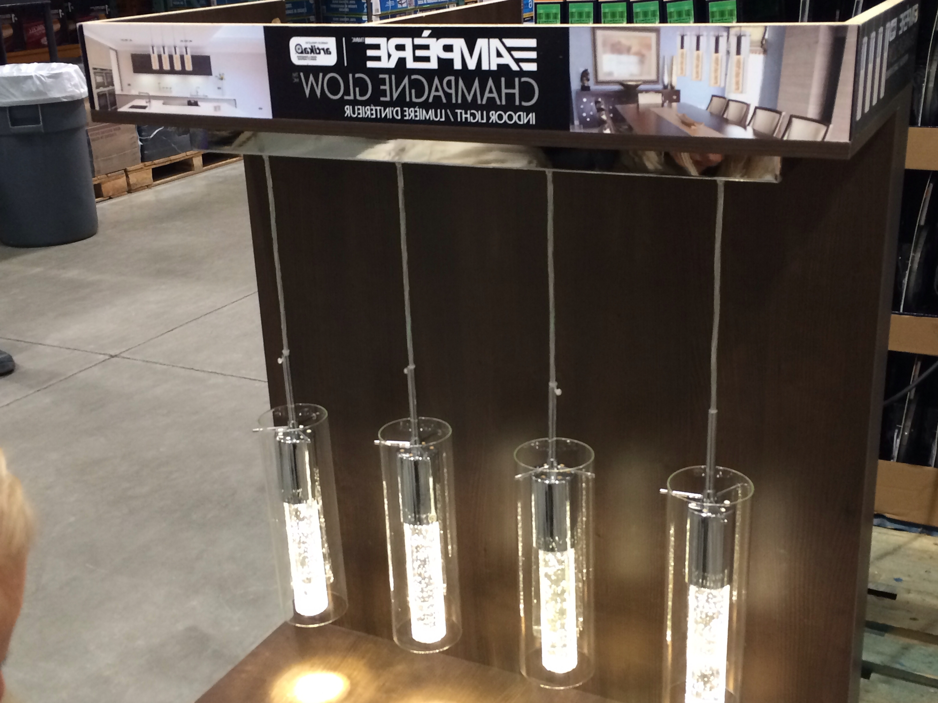 Most Popular Costco: Ampère Champagne Glow Indoor Light (View 11 of 20)