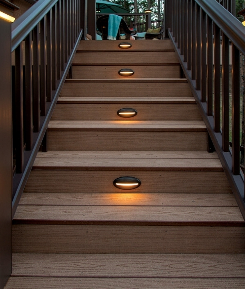Most Por Deck Amp Rail Lighting Led Lights Timbertech Low Voltage With Modern