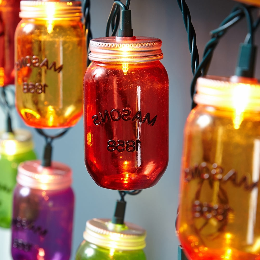 Most Popular Diy : Mason Jar Lights Outdoor Mason Jar Lights Outdoor' Pinterest Intended For Outdoor Plastic Hanging Lights (View 4 of 20)