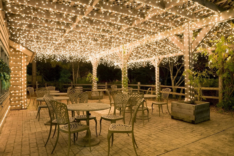 Most Popular Diy : Outdoor Pergolas And Gazebos Lighting Romantic Wedding Hanging Throughout Outdoor Hanging Lights For Pergola (View 8 of 20)