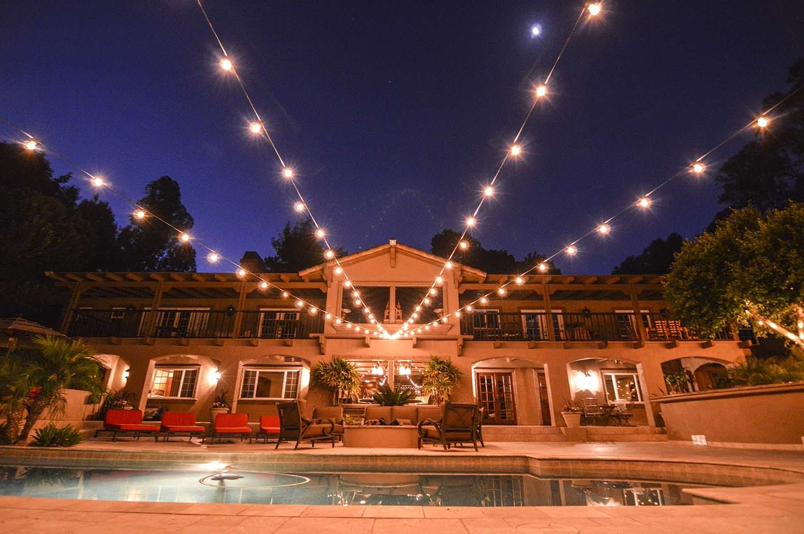 Most Popular Hanging Lights For Outdoor Wedding With Regard To Lighting – Hanging Lights – Av Party Rental (View 11 of 20)