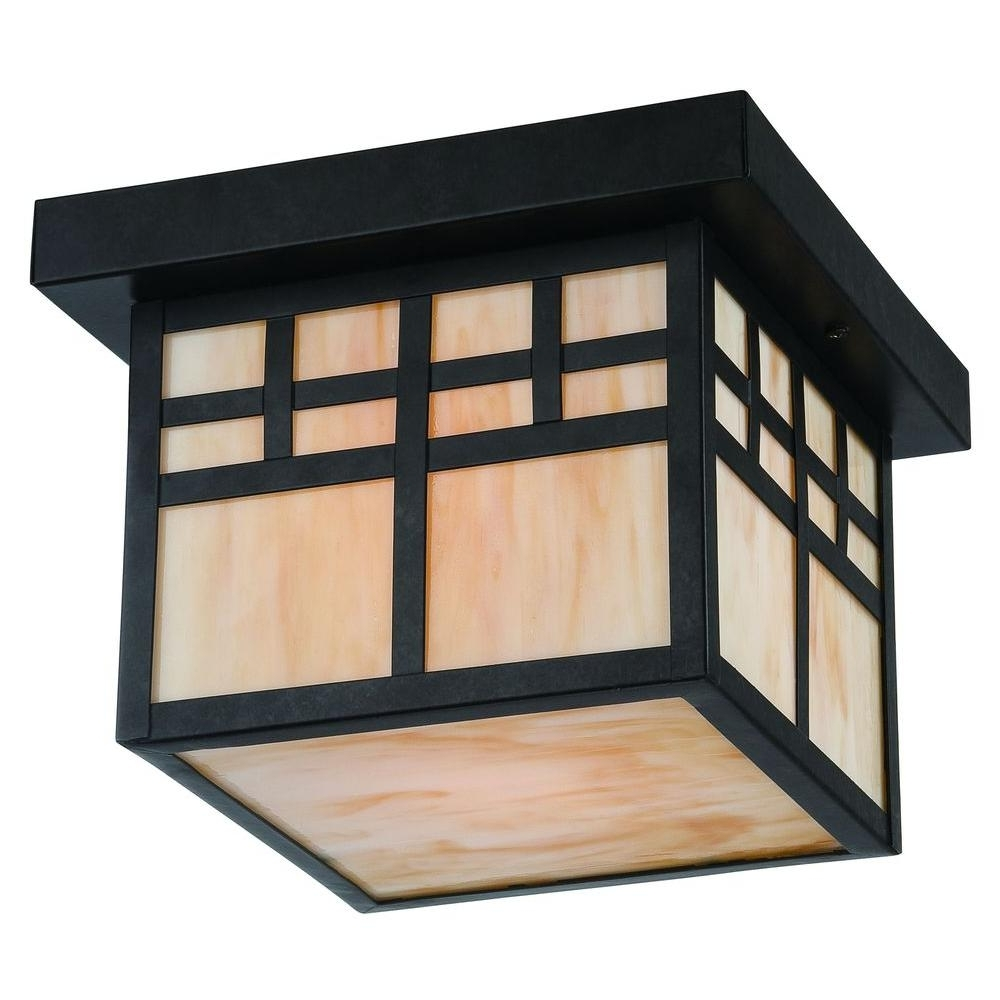 Most Popular Home Decorators Collection Coleville 1 Light Glendale Bronze Outdoor For Craftsman Outdoor Ceiling Lights (View 19 of 20)