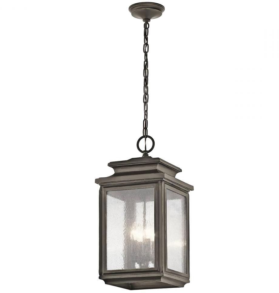 Most Popular Kichler 49505Oz Wiscombe Park Olde Bronze Outdoor Hanging Pendant Inside Motion Sensor Outdoor Hanging Lights (View 5 of 20)