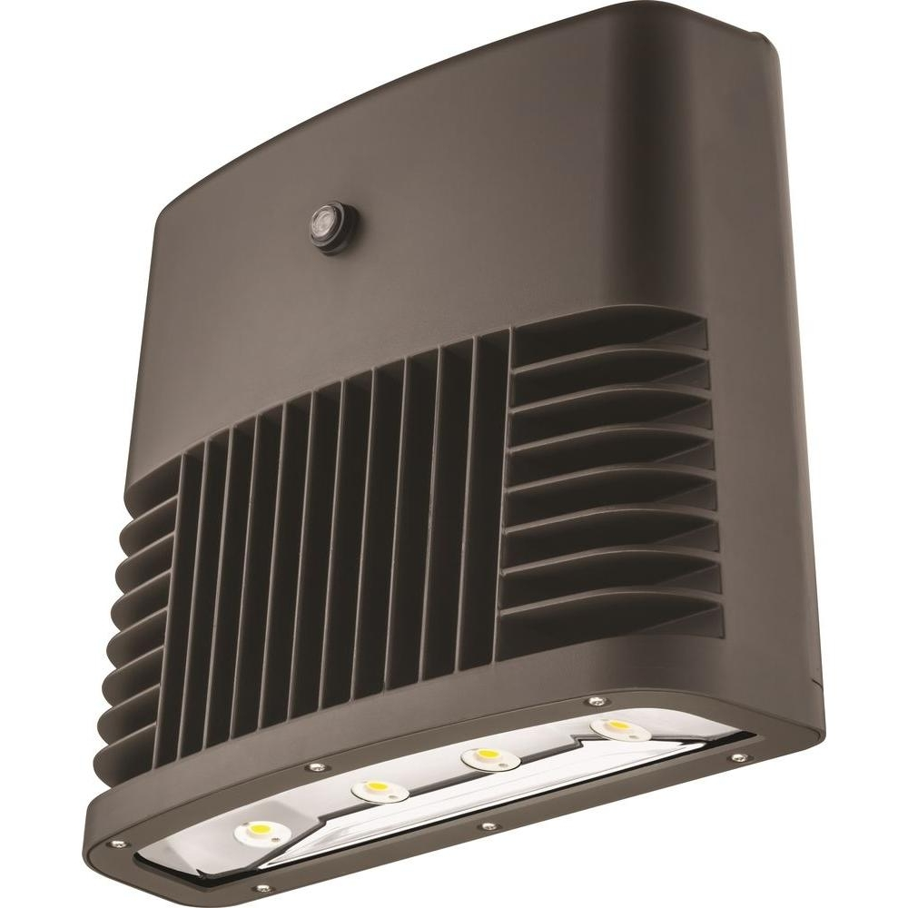 Most Popular Low Profile Outdoor Ceiling Lights Intended For Lithonia Lighting Dark Bronze 90 Watt 5000K Daylight White Photocell (View 16 of 20)