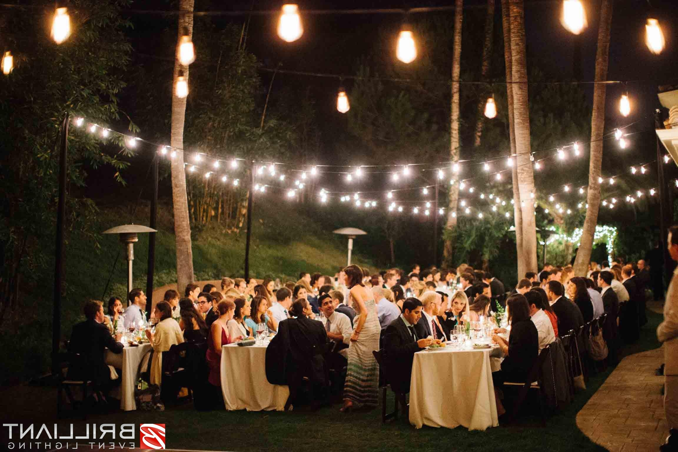 Most Popular Market Lights, Party, Globe & Patio String Lights Outdoor Throughout Hanging Lights For Outdoor Wedding (View 7 of 20)