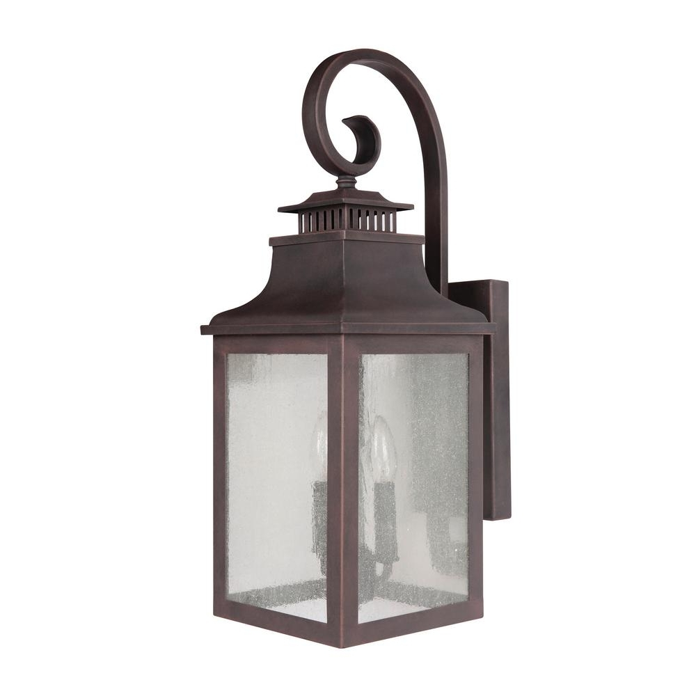 Most Popular Modern Rustic Outdoor Lighting At Home Depot Pertaining To Furniture : Decor Morgan Light Rustic Bronze Outdoor Sconce El2283rt (View 12 of 20)