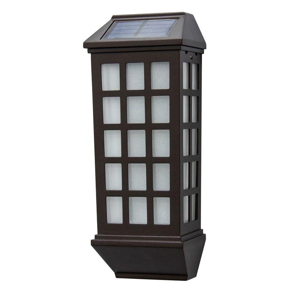 Most Popular Modern Solar Garden Lighting At Home Depot Pertaining To Solar – Outdoor Wall Mounted Lighting – Outdoor Lighting – The Home (View 10 of 20)