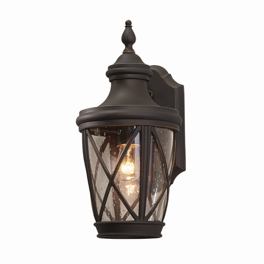 Most Popular Oil Rubbed Bronze Outdoor Wall Lights Regarding Shop Allen + Roth Castine (View 14 of 20)
