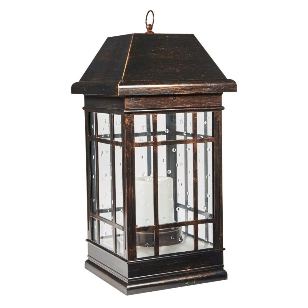 Most Popular Outdoor Hanging Candle Lanterns With Regard To Smart Solar San Rafael Estate Mission 3 Light Integrated Led Solar (View 9 of 20)