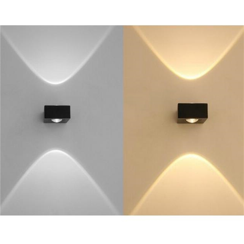 Most Popular Outdoor Up Down Wall Led Lights Intended For 6W Double Heads Up Down Lighting Led Wall Lamp Waterproof Outdoor (View 8 of 20)
