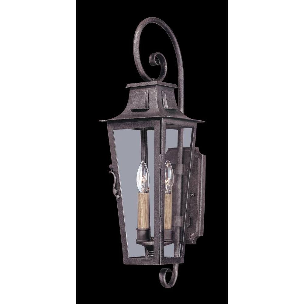 Most Popular Pewter Outdoor Wall Lights Throughout Troy Lighting French Quarter 2 Light Aged Pewter Outdoor Wall Mount (View 6 of 20)
