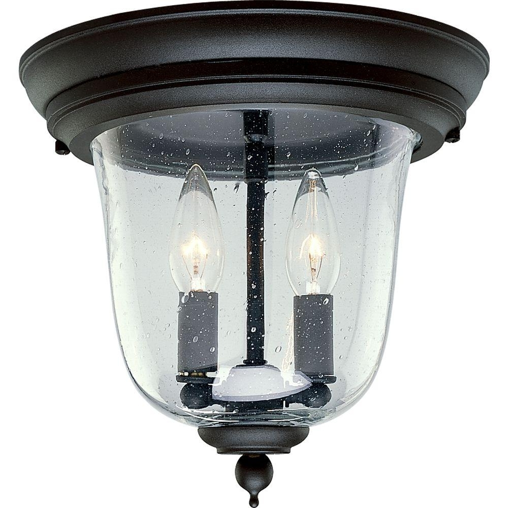 Most Popular Progress Lighting Ashmore Collection 2 Light Textured Black Outdoor Throughout Black Outdoor Ceiling Lights (View 9 of 20)