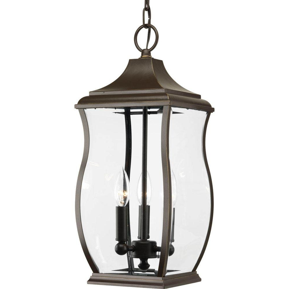 Most Popular Progress Lighting Township Collection 3 Light Outdoor Oil Rubbed Throughout Outdoor Hanging Oil Lanterns (View 3 of 20)