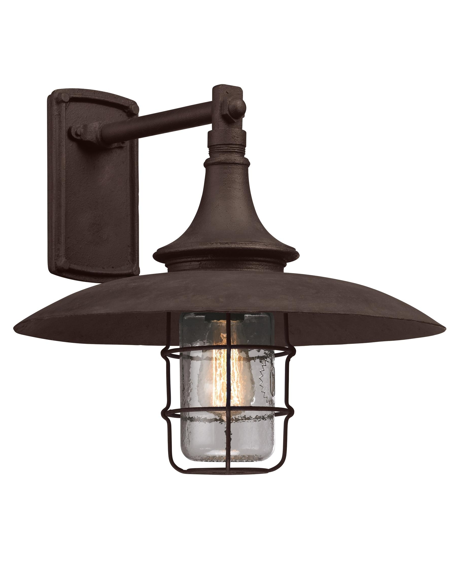 Most Popular Retro Outdoor Wall Lighting Throughout Troy Lighting B3222 Allegany 16 Inch Wide 1 Light Outdoor Wall Light (View 3 of 20)