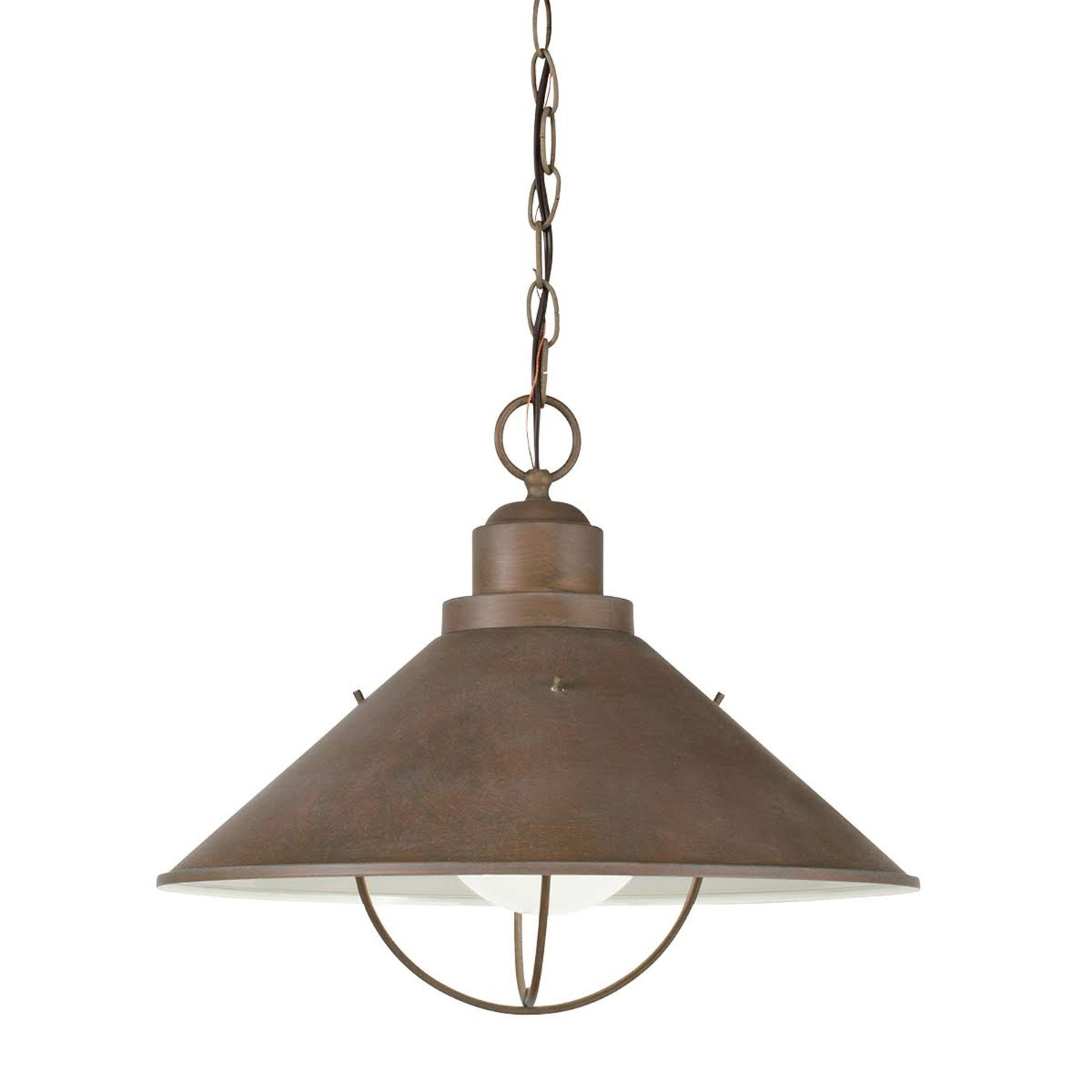 Most Popular Rustic Outdoor Hanging Lights Intended For Seaside Nautical Dome Light Kichler Outdoor Pendants Outdoor Hanging (View 10 of 20)