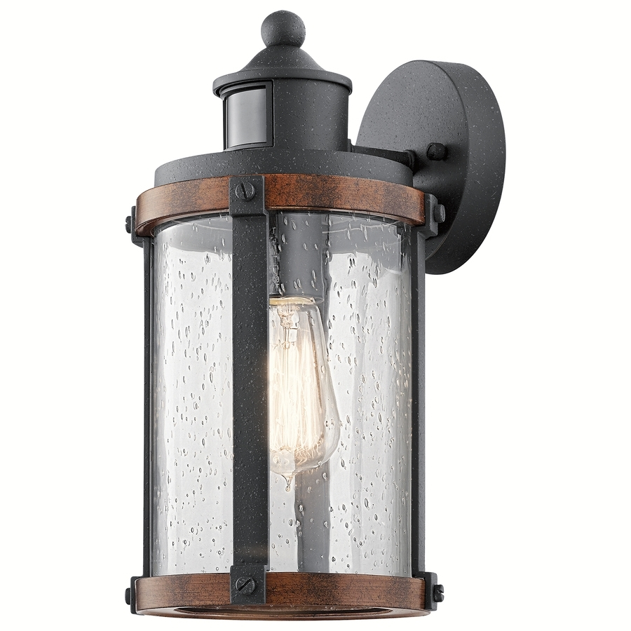 Most Popular Shop Outdoor Wall Lights At Lowes Regarding Outdoor Wall Light Fixtures With Motion Sensor (View 9 of 20)