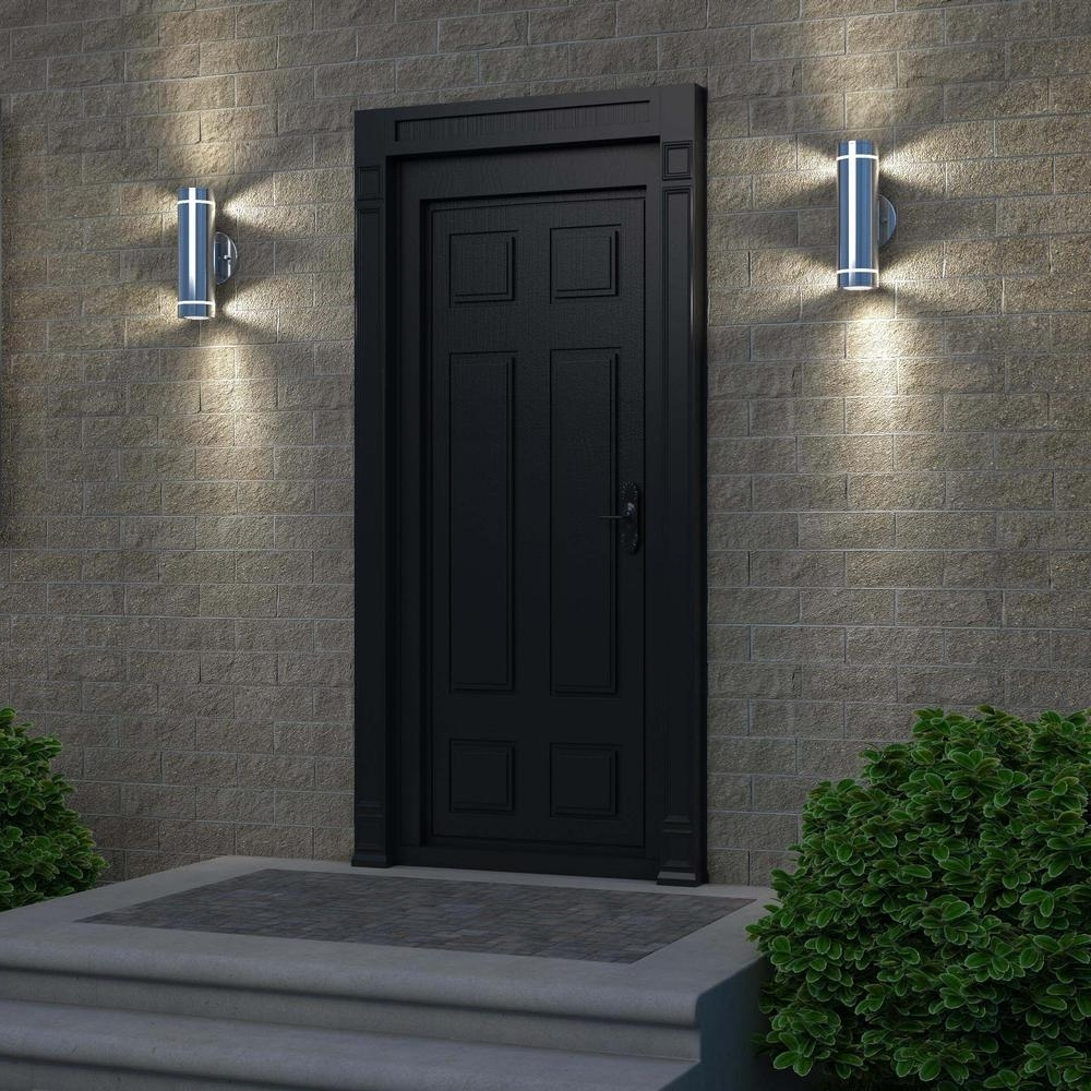 Most Popular Stainless Steel Light Fixtures Wall Light Fixture Using Stainless With Elegant Outdoor Wall Lighting (View 6 of 20)
