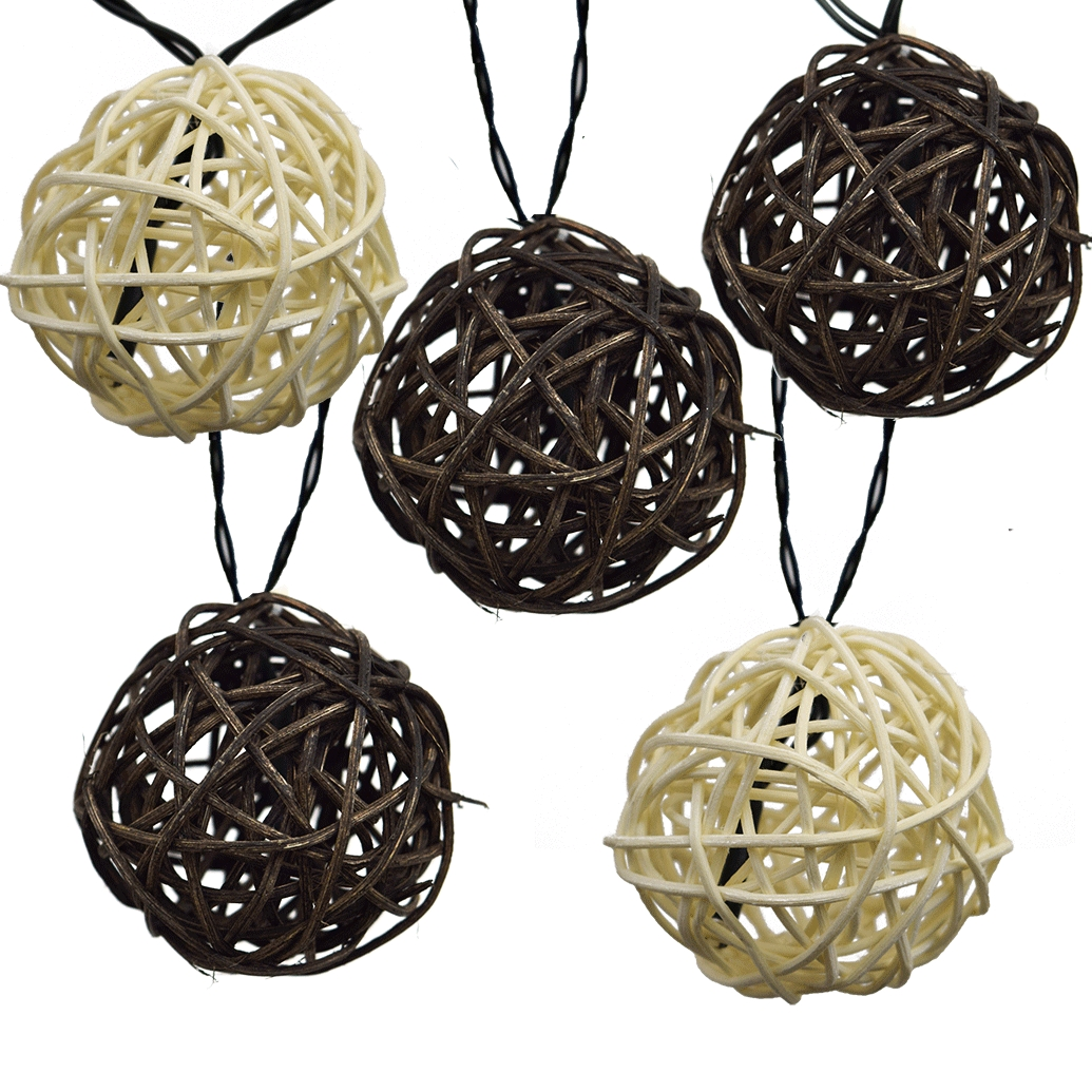 Most Popular Twig Rattan Grapevine Balls – Led Solar Powered With Outdoor Rattan Hanging Lights (View 8 of 20)