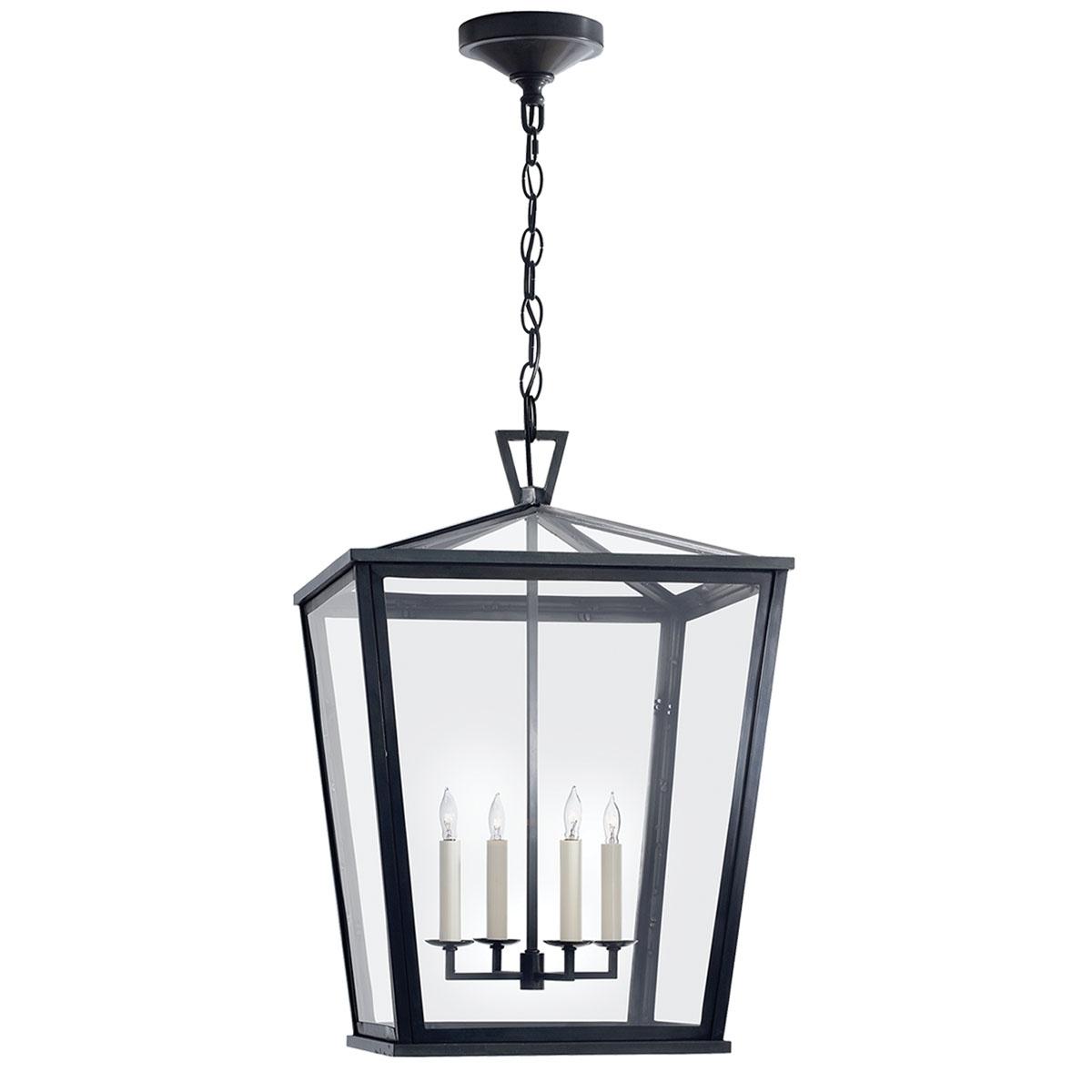 Featured Photo of Outdoor Hanging Light Fixtures In Black