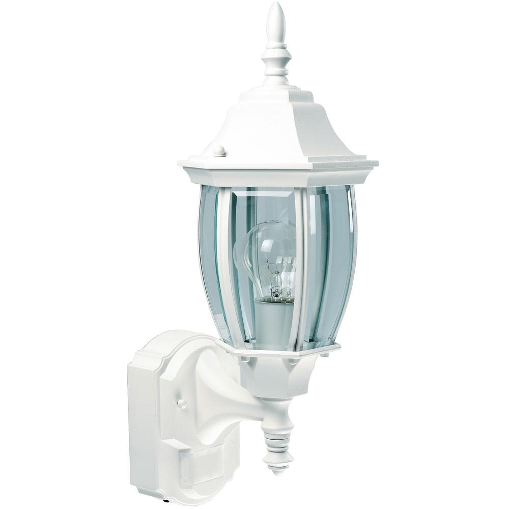 Most Popular White Outdoor Wall Lighting Within White – Outdoor Wall Mounted Lighting – Outdoor Lighting – The Home (View 7 of 20)