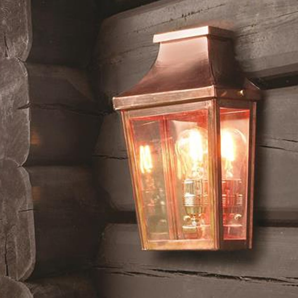 Most Recent Copper Outdoor Wall Lighting Throughout Elstead Lighting Chelsea Cs7 2 Copper Half Exterior Wall Light (View 14 of 20)